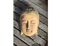 Wall mounted garden Buddha head