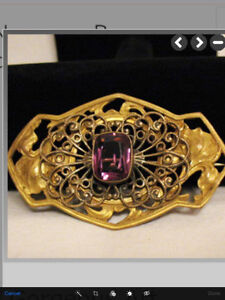Beautiful Vintage Sash pin from the 1920's Cambridge Kitchener Area image 4