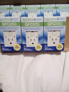 Many GFCI receptacles.