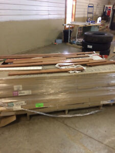 Pallet of Mixed pre finished hard wood floor
