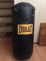 40LBS EVERLAST BOXING BAG W/ CHAINS