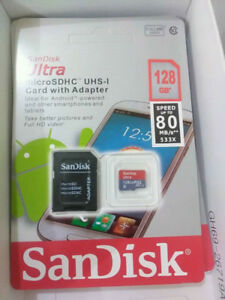 sandisk 128gb micro sd card with the adapter