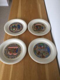 Hornsea Christmas plates