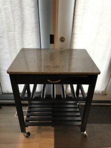 Kitchen Island/Cart with Marble Top