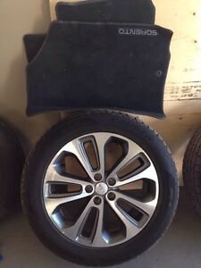 19 inch tires and rims. Lower profile