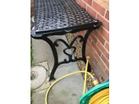 Cast Iron Table Top and Ends - Solid and Heavy