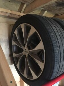 "Civic Si 17"" Rims and Tires"