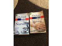 Oxford nursing dictionary *** one left