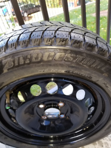 4 Bridgestone Blizzak 175/65/R15 Winter tires on rims