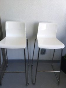 2 IKEA Glen Bar Stools