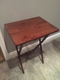 Small Walnut Folding Dinner Side Table