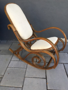 CHAISE BERÇANTE RÉTRO VINTAGE THONET ROCKING CHAIR ART DÉCO