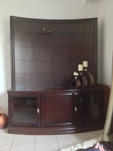 Beautiful dark brown TV Stand ( up to 50in. )