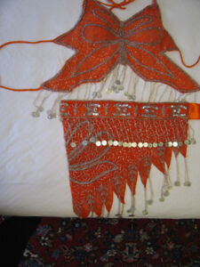 New Belly Dance Butterfly Top & Matching Hip Scarf