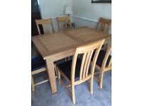 Large Oak Dining Set with 6 Chairs - Like New from Roomes.