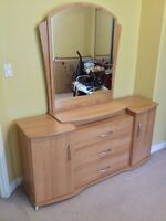 Ladies dresser and mirror