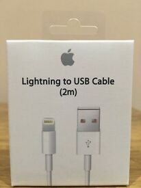 100% Genuine 2M Apple Lightning USB Data Cable For iPhone 5S,6, 6S And 6S Plus.