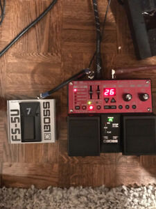 boss rc 30 and footswitch