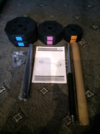 Opti 20kg Barbell Weight Set Brand New