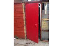 Security door and steel sheeting