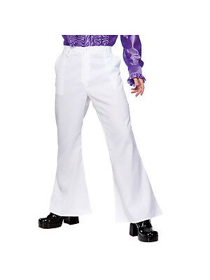 Adult Large 70s 80s Disco Night Fever Flares Trousers Fancy Dress Costume - 80's Night Kostüm