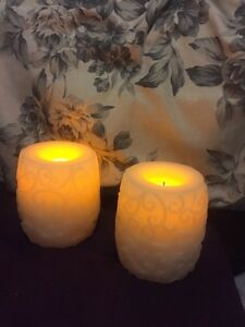 Vanilla Scented Battery Candles