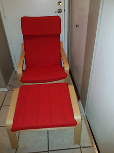 Poang Chair with foot rest