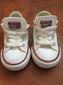 White toddler converse.
