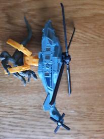 Matchbox Jurassic park Rapter copter set