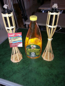 Citronella torches and oil