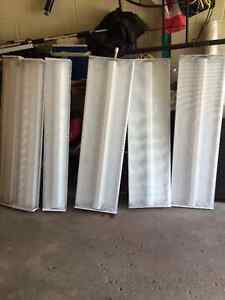 7 fluorescent light bulbs and covers for sale