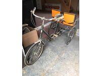 Pashley Tricycle Bike 1980's Sturmey Archer Hub and Gears