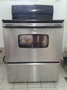 Maytag Stainless Steel with Glass-Top Stove for sale