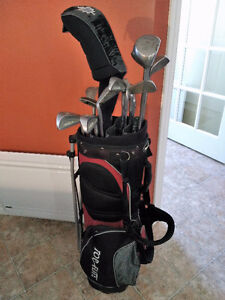 Complete set of right hand golf clubs