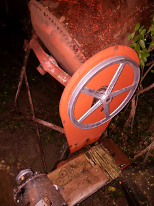 Cement mixer . Motor in rough  shape but mixer works great