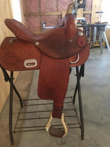 14.5 circle P barrel/trail saddle