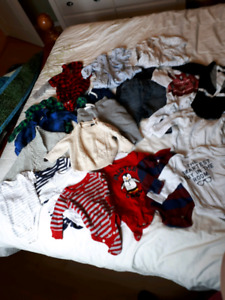 80 items - boys clothing lot, ages 0-18m