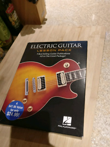 Electric guitar lesson pack book collection