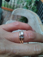 engagement ring with band