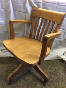 Captains swivel Maple chairs