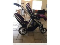 Wanted babystyle oyster max tandem seat with adapter brackets quick collection