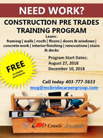 FREE Training Opportunity - Construction Pre-Trades Training