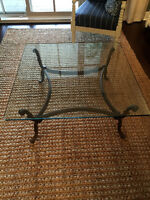 LIKE NEW GLASS SQUARE COFFEE TABLE