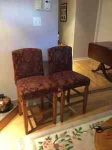 Bistro chairs, $25.00 for 2