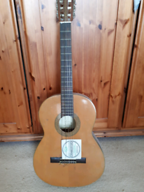 Angelica 6 string acoustic guitar. Needs a set of strings.