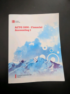 NSCC ACTG 1000 Financial Accounting 1 Textbook