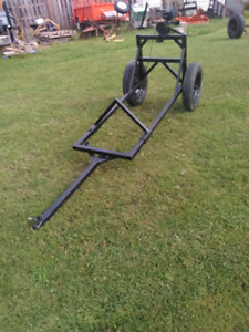 ATV and compact diesel tractor log carrier $1200