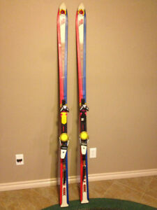 Touring Skis with Bindings and Skins