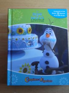 Livre '' Reine de neiges'' avec figurines/ Frozen book/Figurines