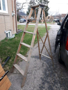 6 ft wooden ladder